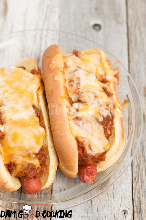 Slow Cooker Chili Cheese Dogs