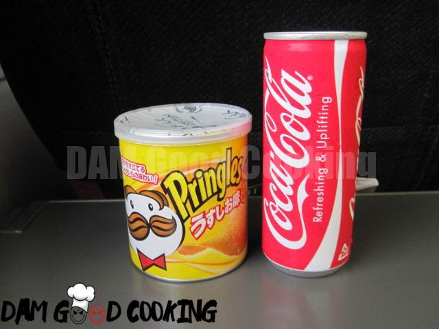 Butter-flavor Pringles and Coca-Cola