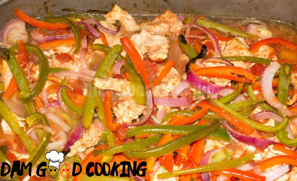 Oven Baked Chicken Fajitas-4
