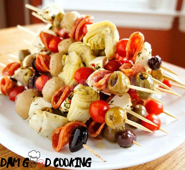 Antipasto-Skewers