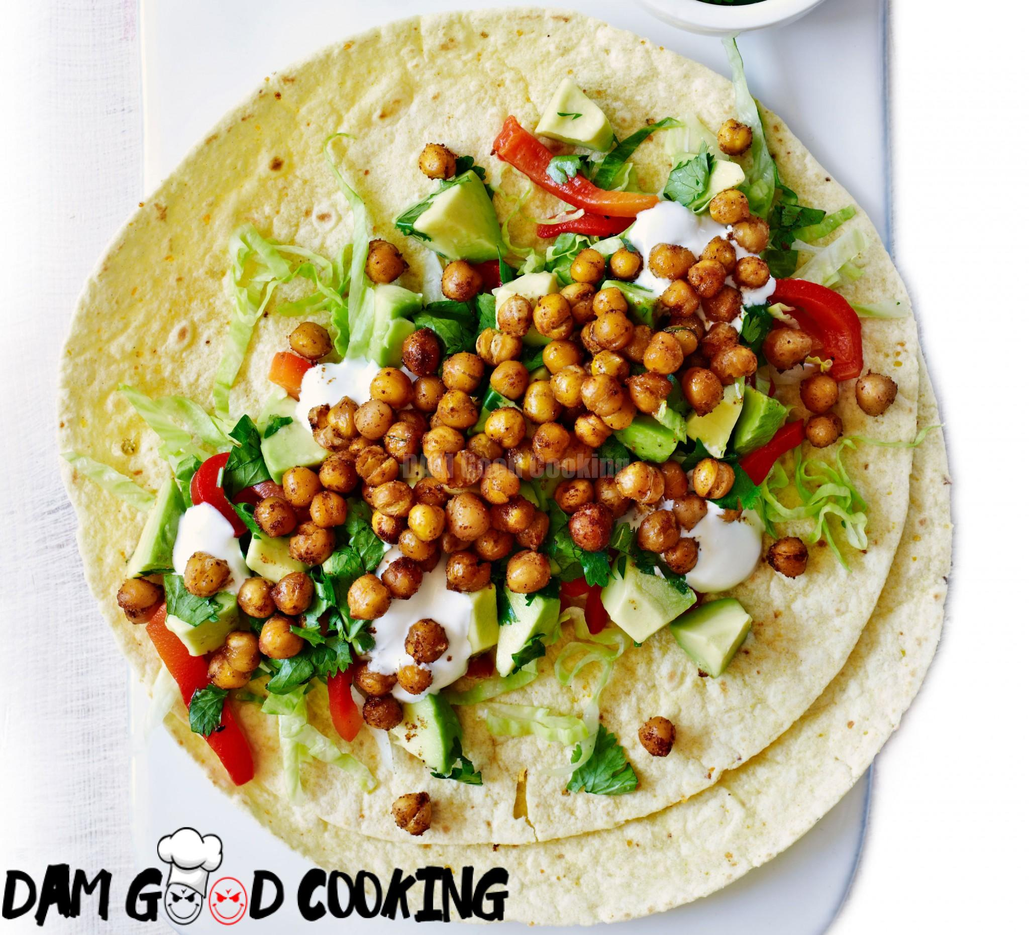 roasted-chickpea-wraps