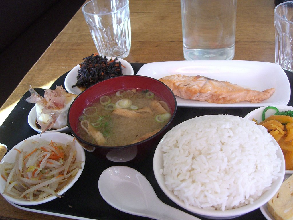 JAPAN: Traditional breakfast includes miso soup, steamed white rice, and Japanese pickles.
