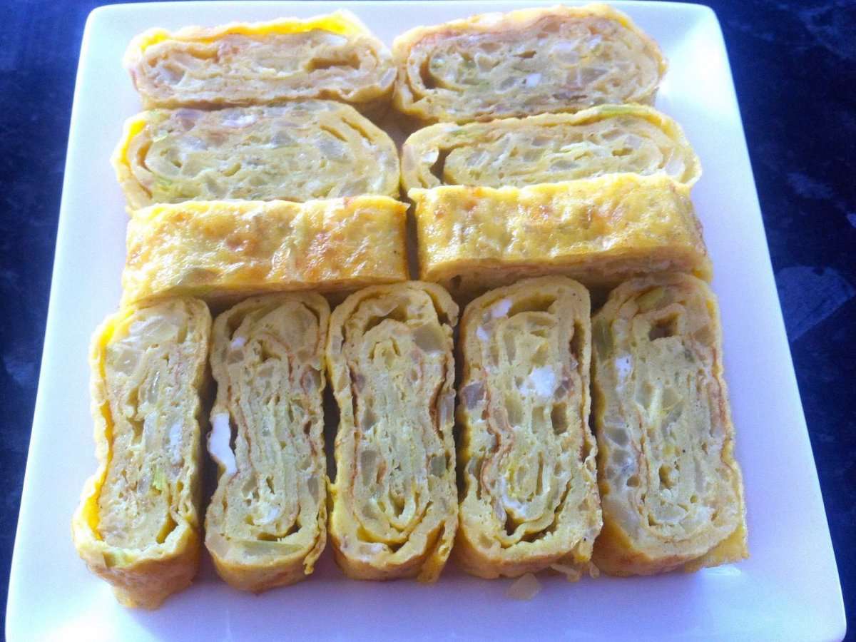 KOREA: Comparable to a rolled up omelette, Korean egg rolls can be made a variety of ways: sometimes with vegetables and sometimes with meat.
